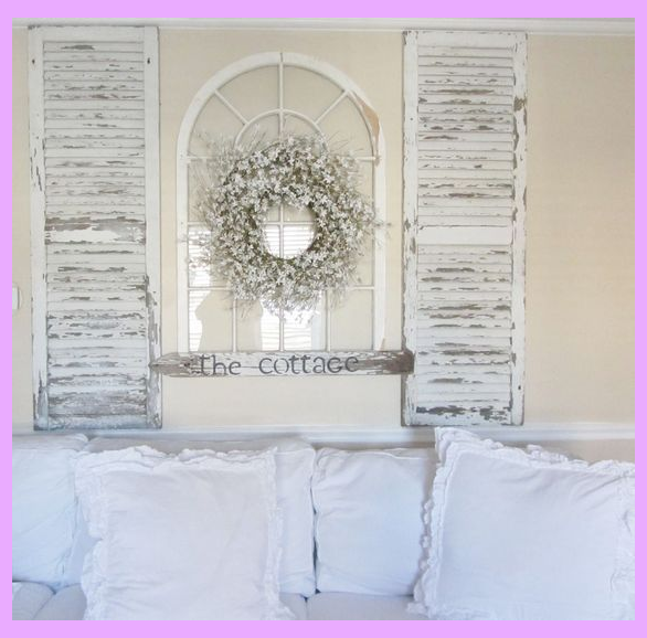 Photo of 25 Ways To Reuse Old Shutters In Home Decor #shabbychicfurniture