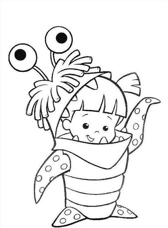 Monsterit Monster Coloring Pages Disney Coloring Pages Cartoon