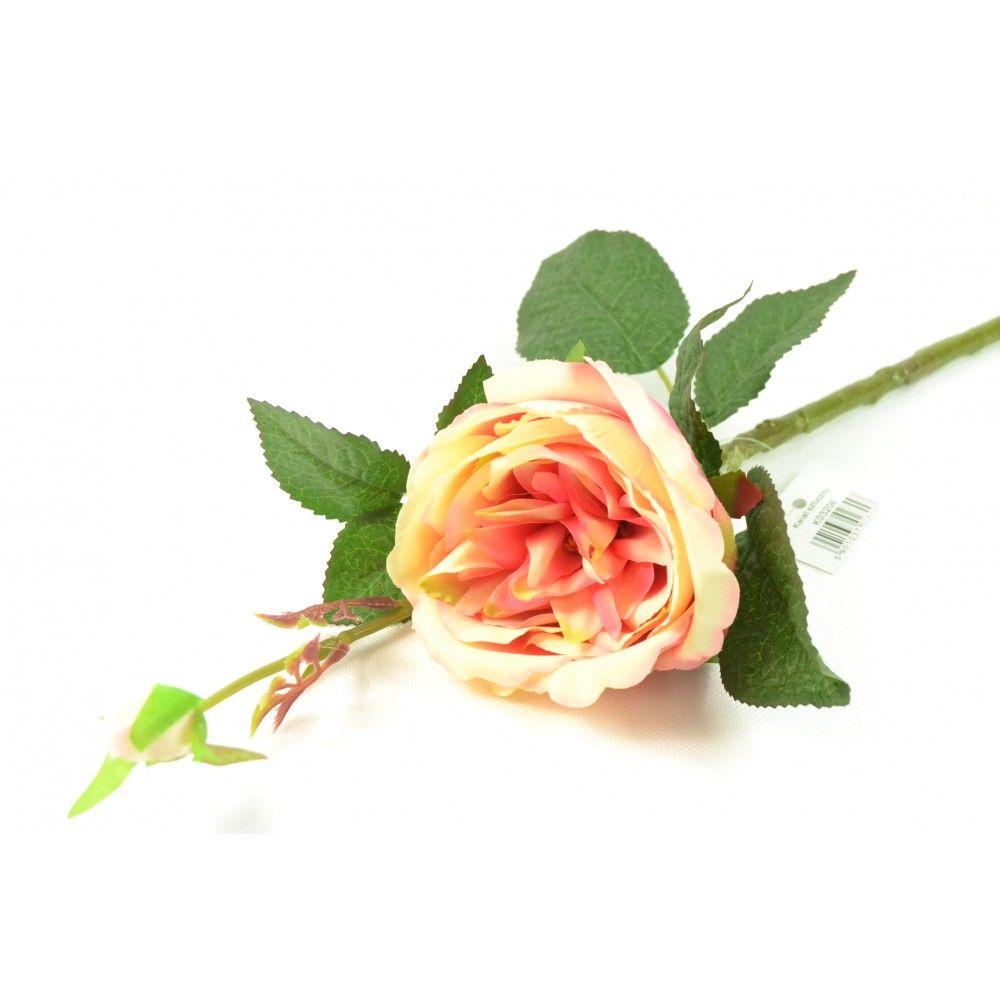 Umelá ruža - žlto-cyklámenová (výška 44 cm)