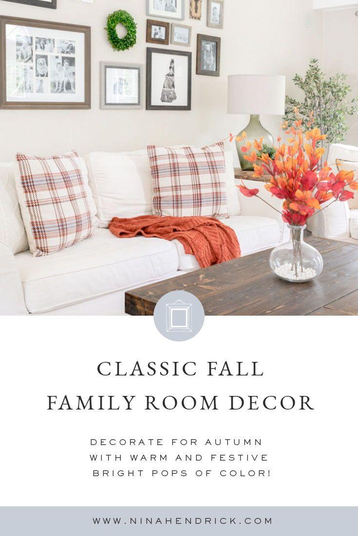 Photo of Classic Fall Family Room Decor