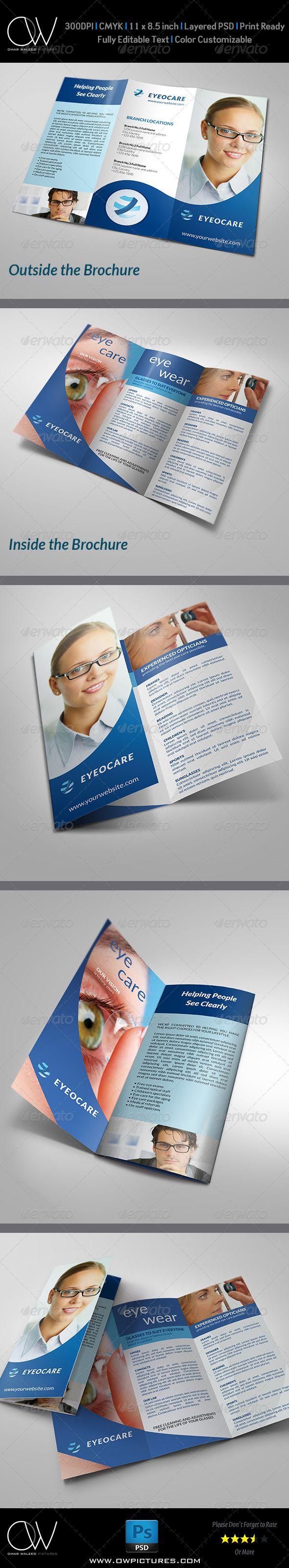 optometrist optician tri fold brochure template