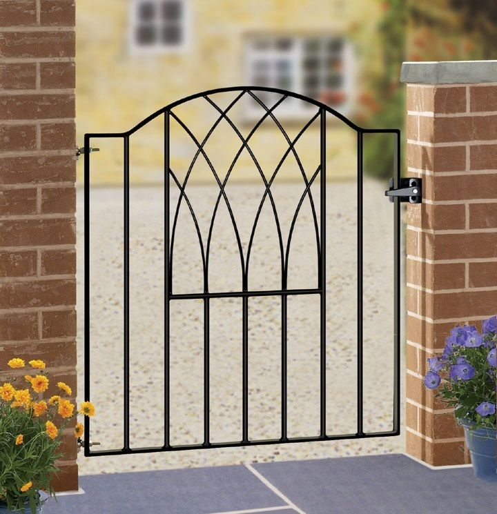the verona metal garden gate is a design classic that