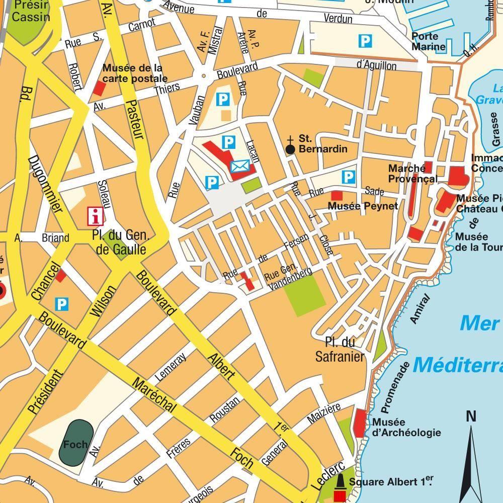 Mapa de Antibes Francia Costa Azul Costa Azul Francesa Monaco