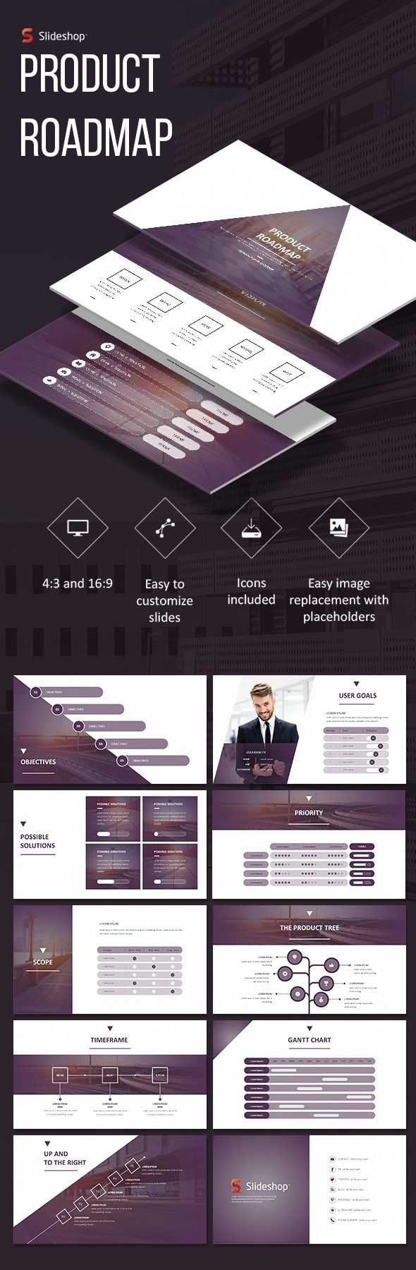 Product Roadmap  Presentation Templates Template And Keynote Design