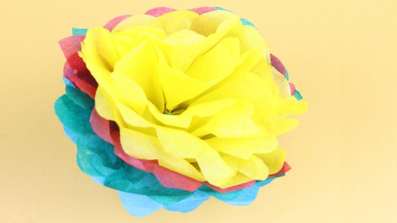 Tissue paper flower or origami rose making paper rose flower easy tissue paper flower or origami rose making paper rose flower easy tissue paper rose mightylinksfo