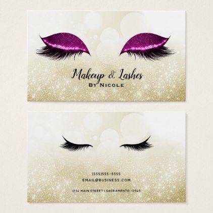 Photo of Pink Sparkle Makeup Glamour Eyelashes Lashes