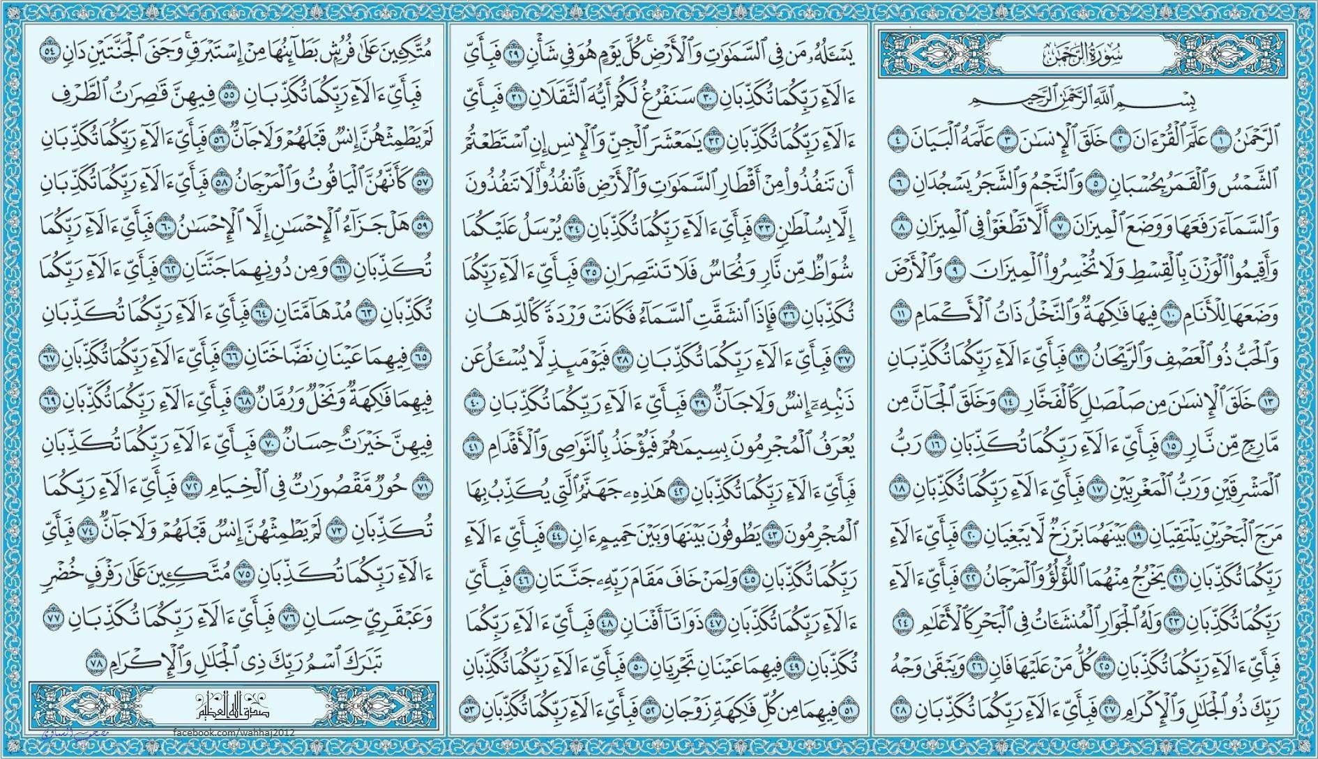 سورة الرحمن Holy Quran Book Islam Facts Quran Book