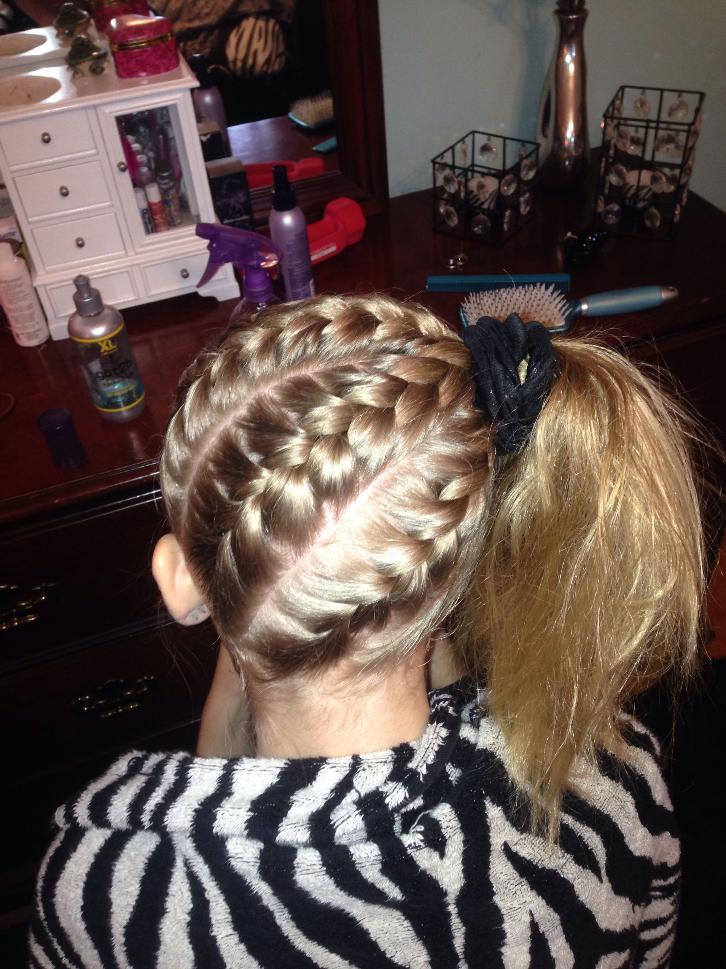 Gymnastics hairstyle