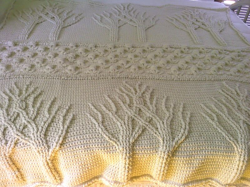 Free Knitting Pattern For Tree Of Life Baby Blanket : Tree of Life adghan Stuff I want to crochet in this lifetime Pinterest ...