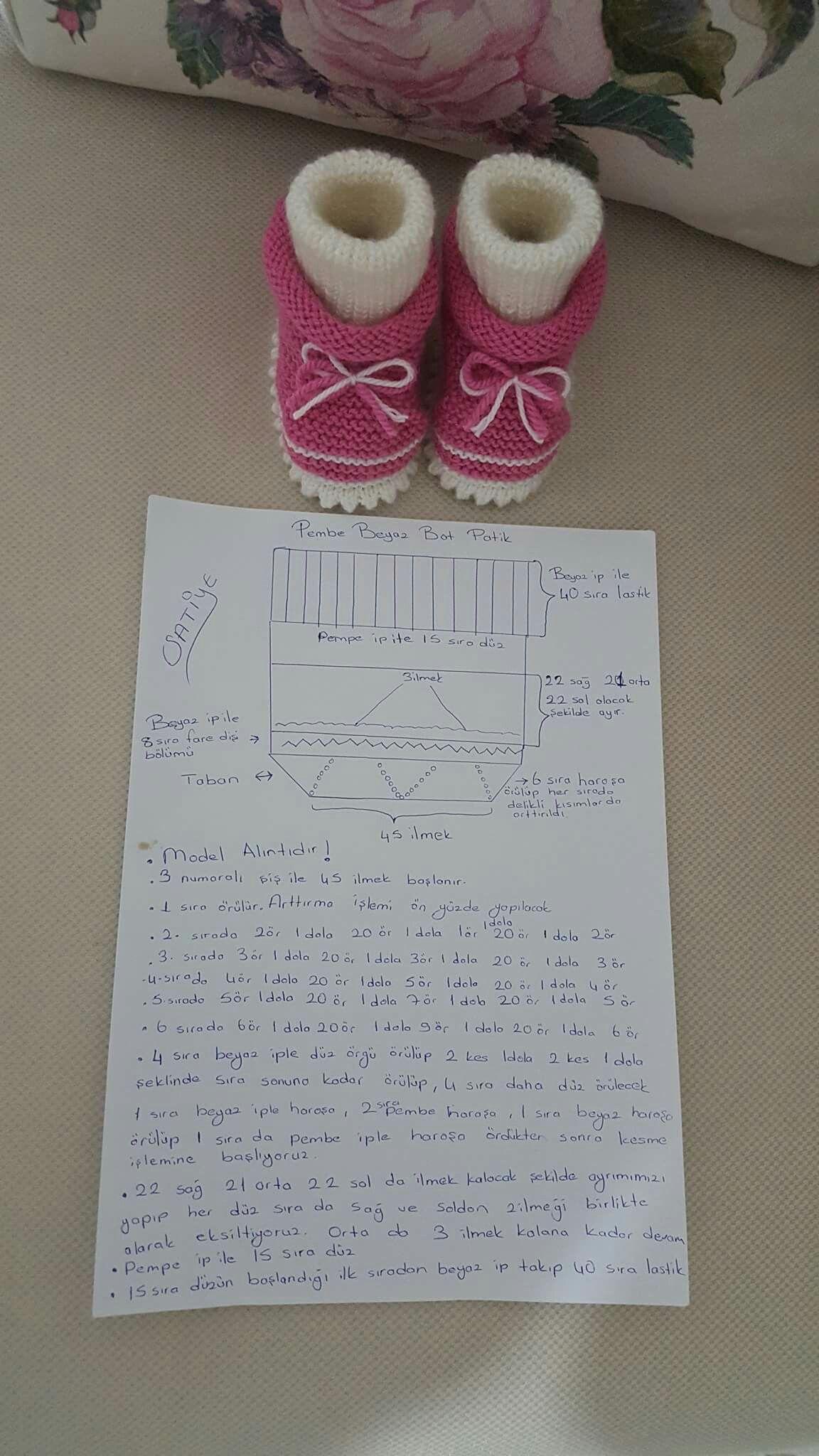 Pin de arzu şanlı en patik | Pinterest | Bebe, Zapatos tejidos y ...