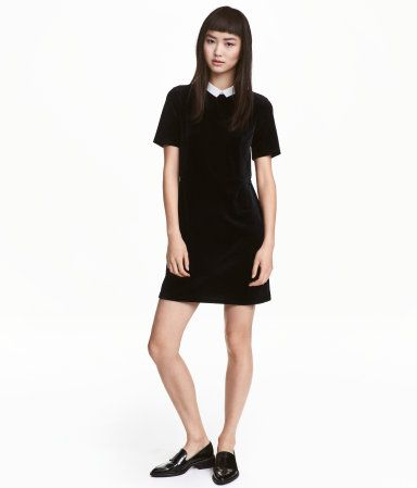 zwarte fluwelen jurk