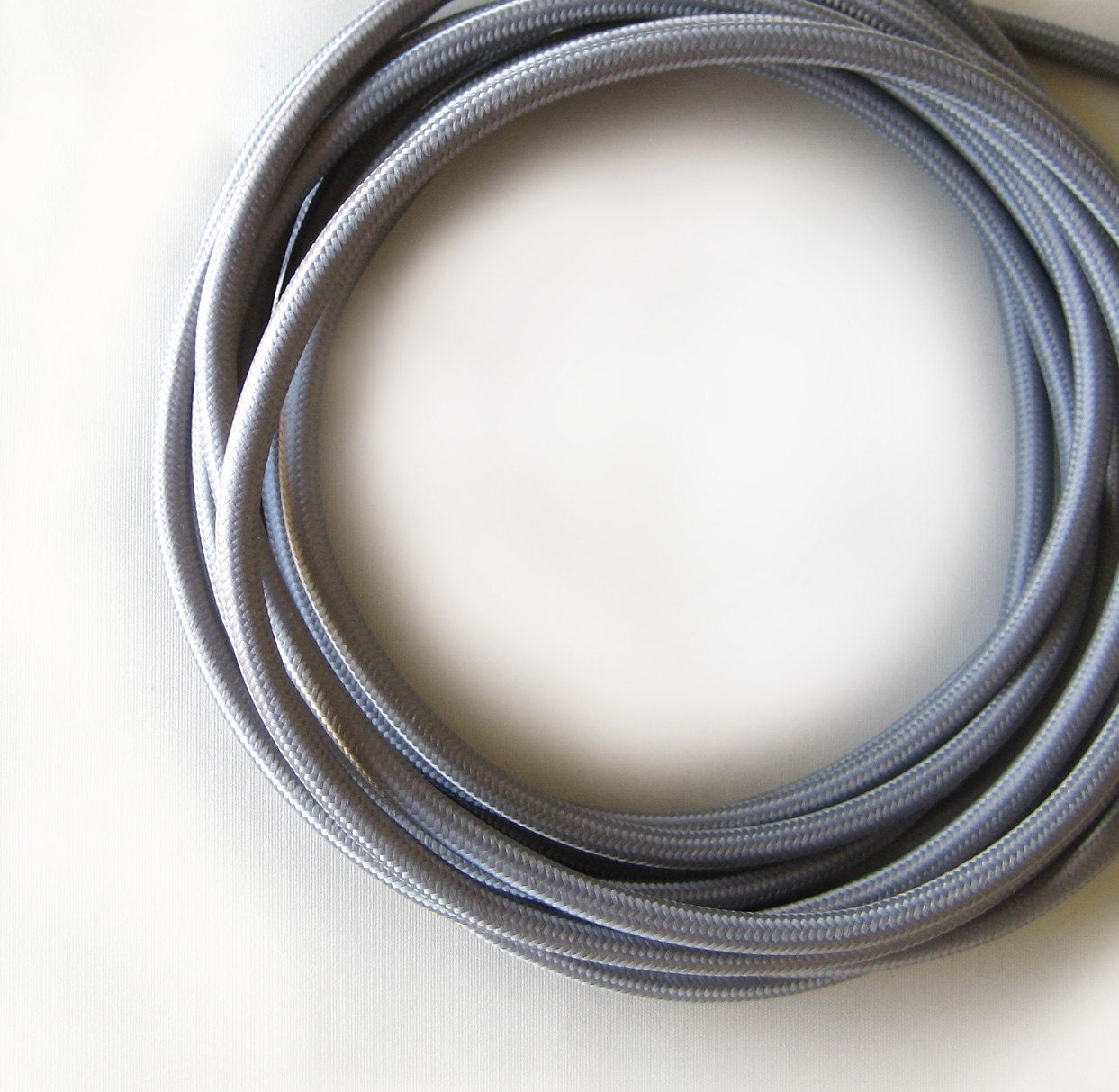 Wire by METER Grey / Gray Fabric Cloth Covered Wire Electrical Cord ...