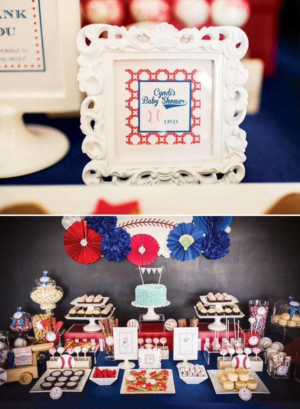 Baseball Baby Shower // Hostess With The Mostess®