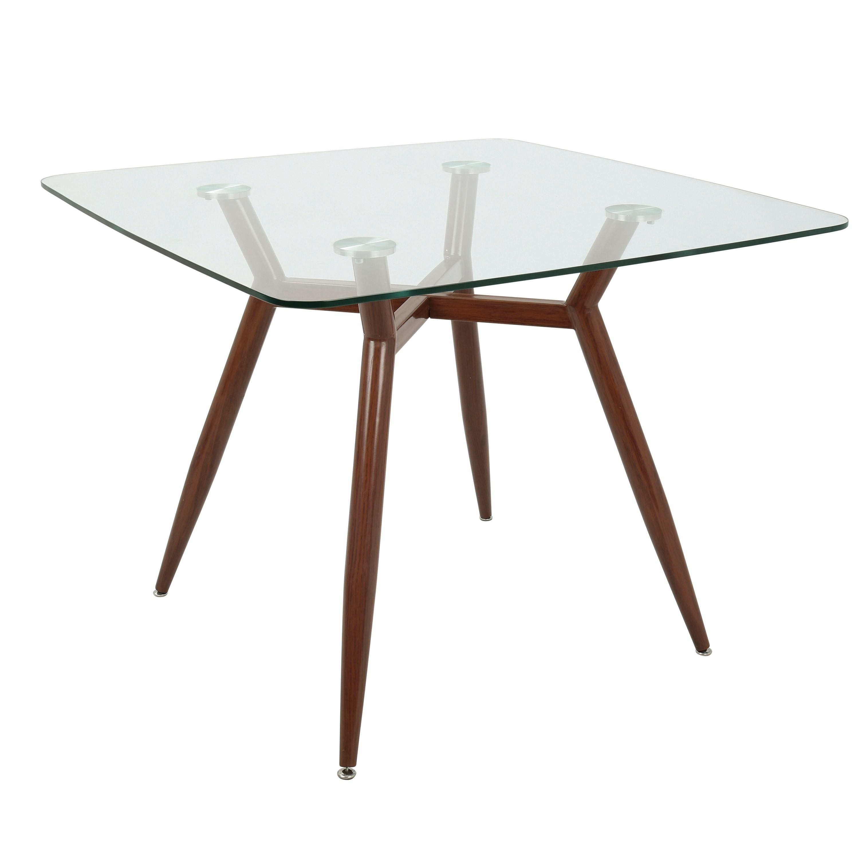 Carson Carrington Vikensved Mid Century Modern Square Dining Table