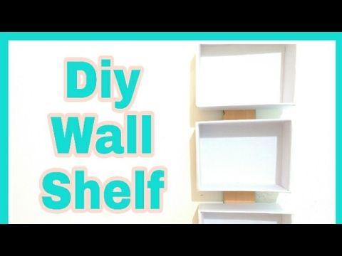 Diy Wall Shelf/Diy cardboard Shelf - YouTube | Cardboard | Pinterest ...
