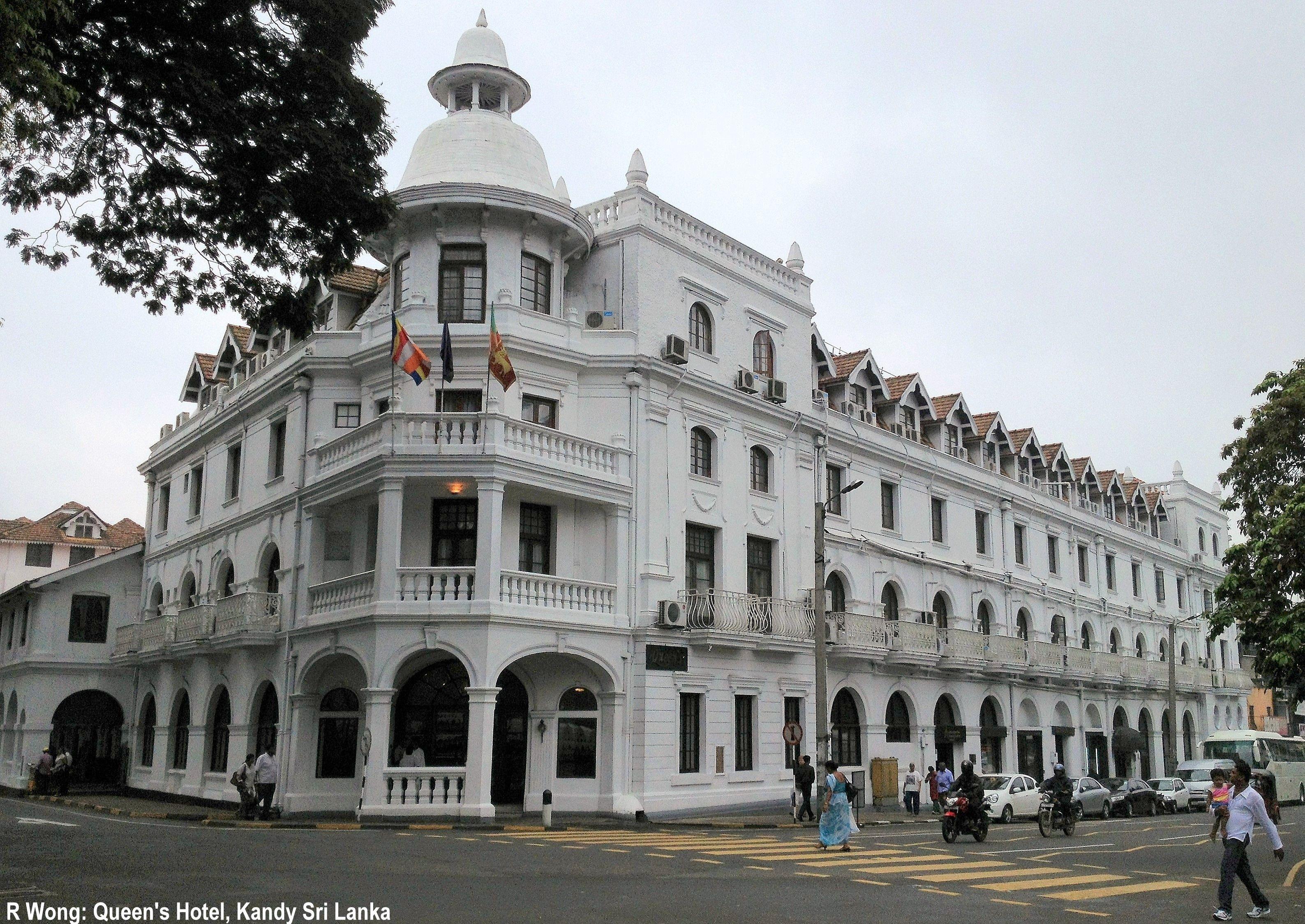 Queen S Hotel British Colonial Kandy Sri Lanka Med Billeder