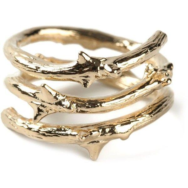 Aurelie Bidermann Rosebud Ring (15.260 RUB) ❤ liked on Polyvore featuring jewelry, rings, metallic, gold jewellery, rose gold ring, aurelie bidermann ring, metallic jewelry and yellow gold jewelry