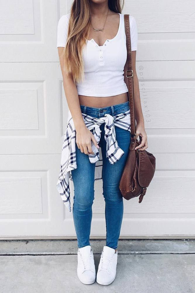 stunning cute school outfits with jeans