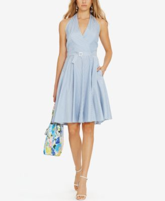 Polo Ralph Lauren Striped Silk Halter Dress - Dresses - Women - Macy's