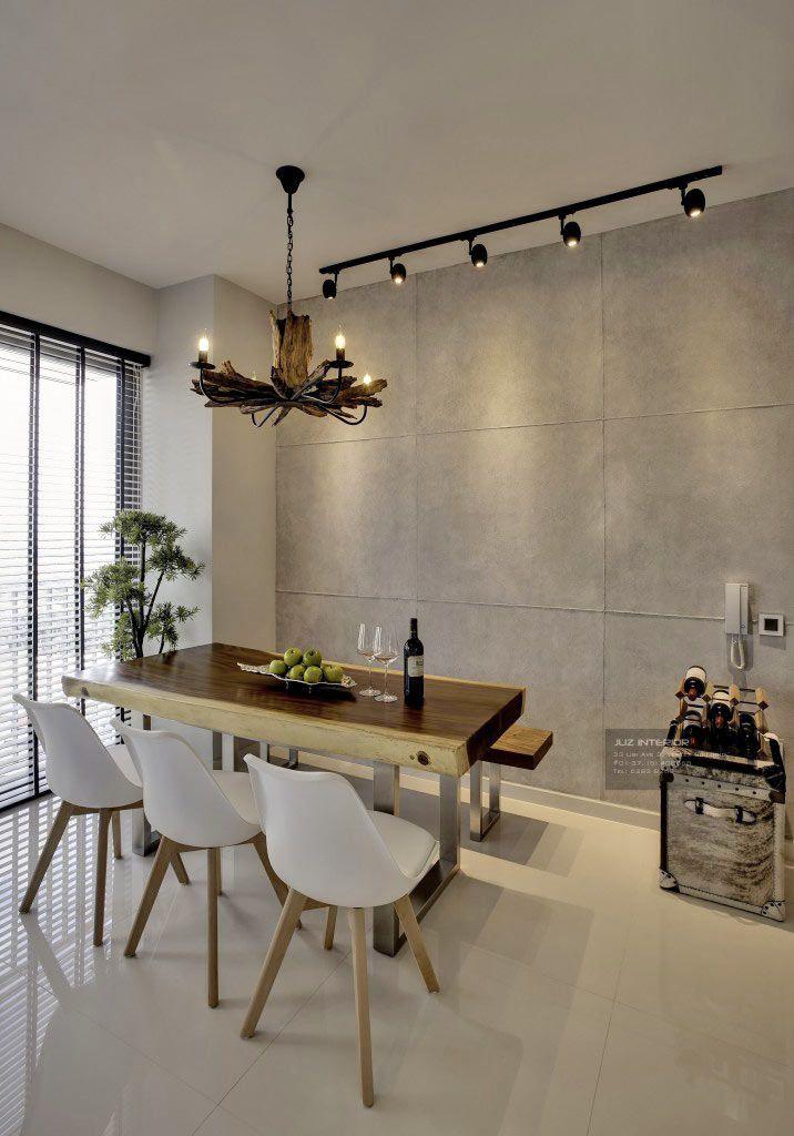 Sky Habitat Modern Condominium Interior Design Dining Area