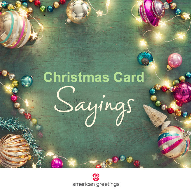 Warm lovely christmas card sayings american greetings good to struggling to find the right words to write on your christmas cards here are some lovely christmas card sayings to serve as inspiration m4hsunfo