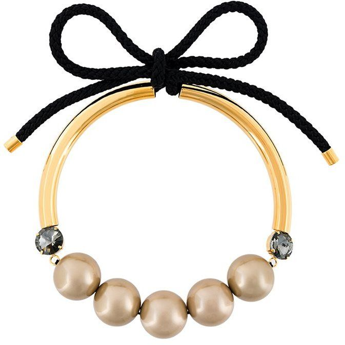 long pearl necklace - White Marni