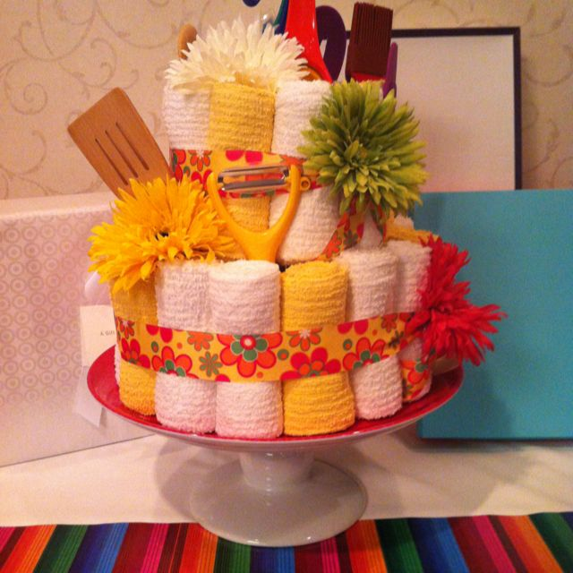 pictures of wedding shower centerpieces made from kitchen utensils