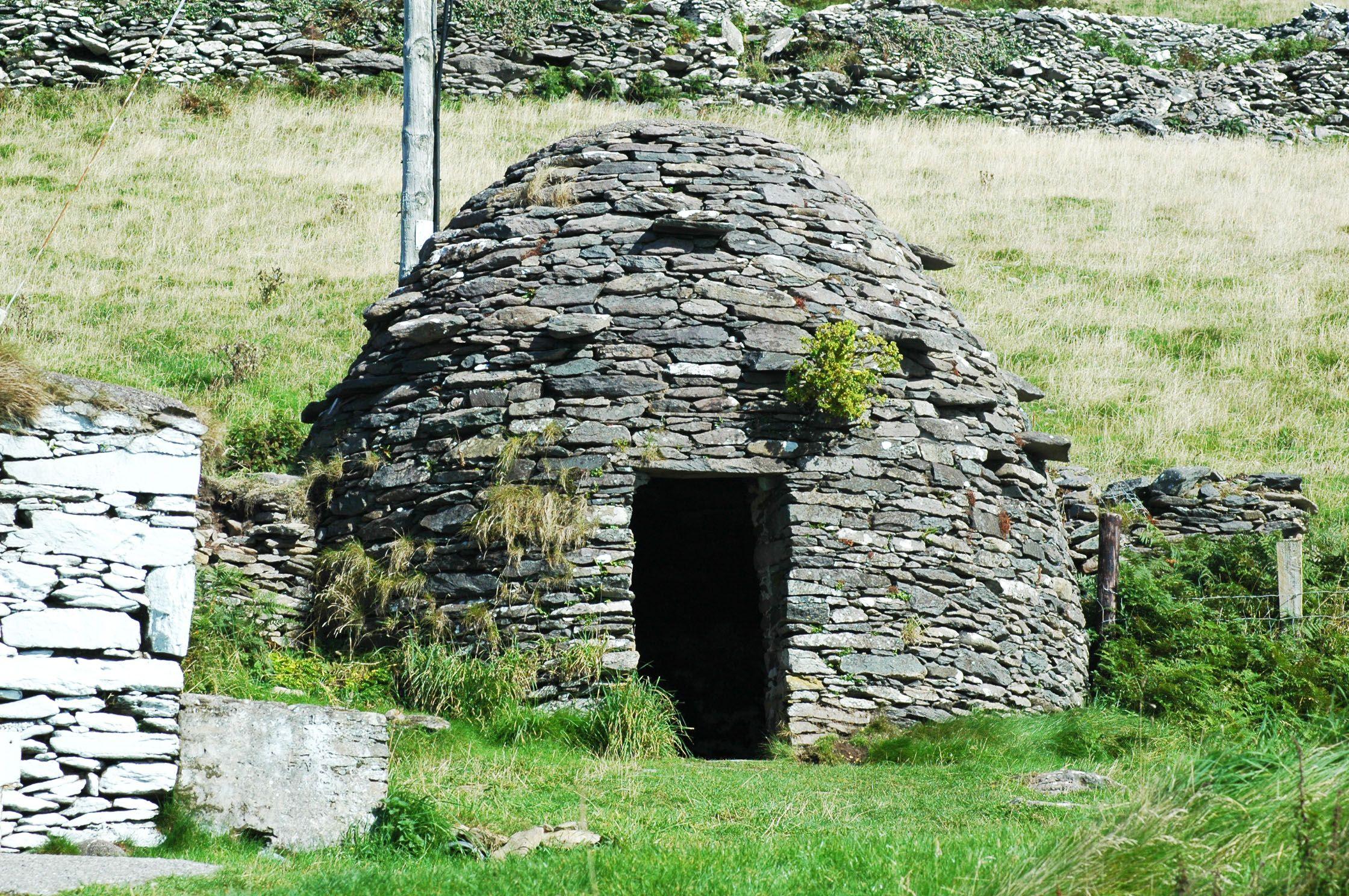 Monastic beehive hut on Dingle Peninsula Fairytale house
