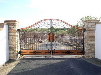 Northwest Iron Works Custom Wrought Iron Gates Fencing Western Design Entrance Gates Design Entrance Gates Wrought Iron Driveway Gates
