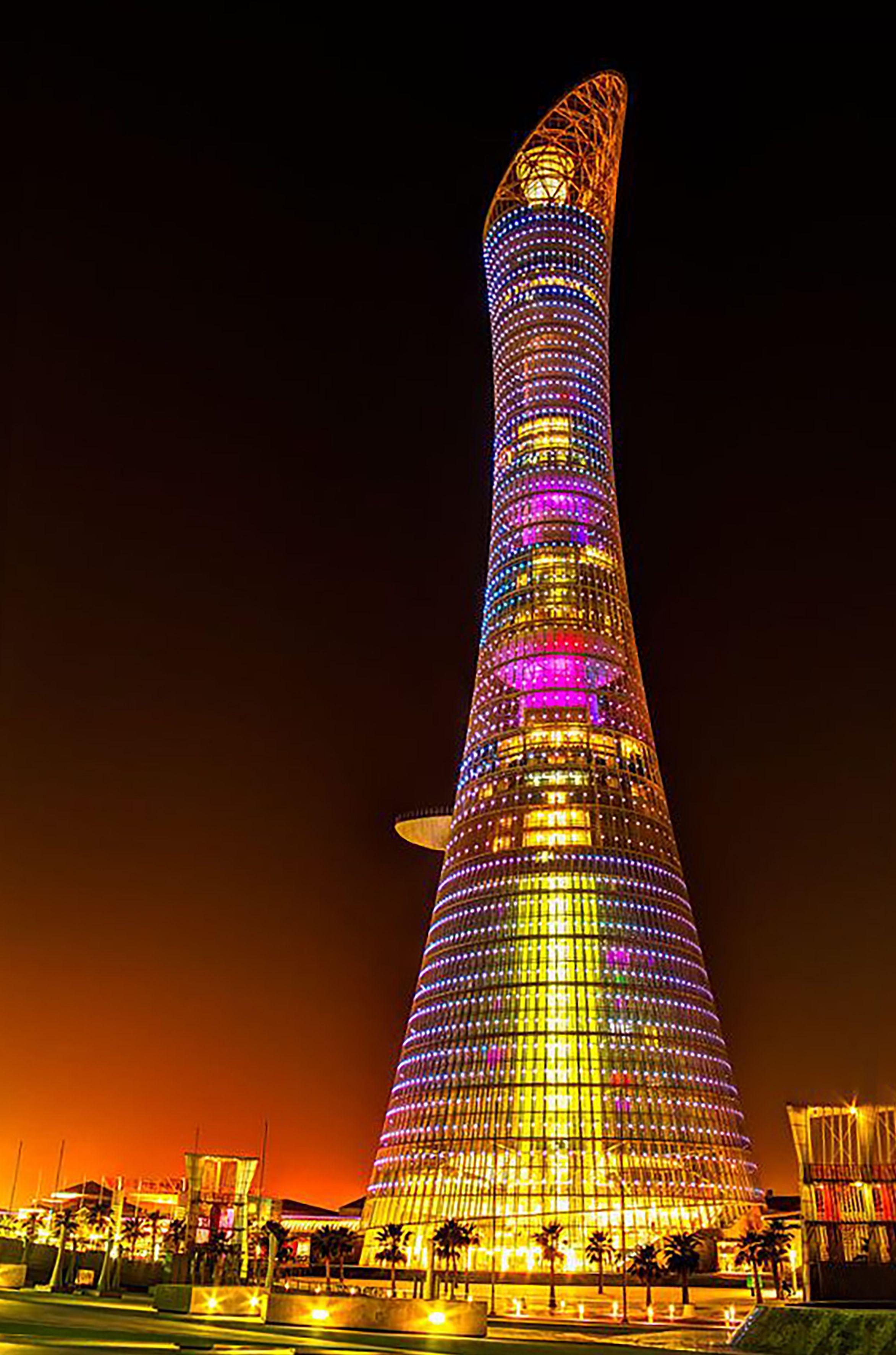 Aspire Tower: a.k.a The Torch Doha | Qatar travel, Building, Landmark  buildings