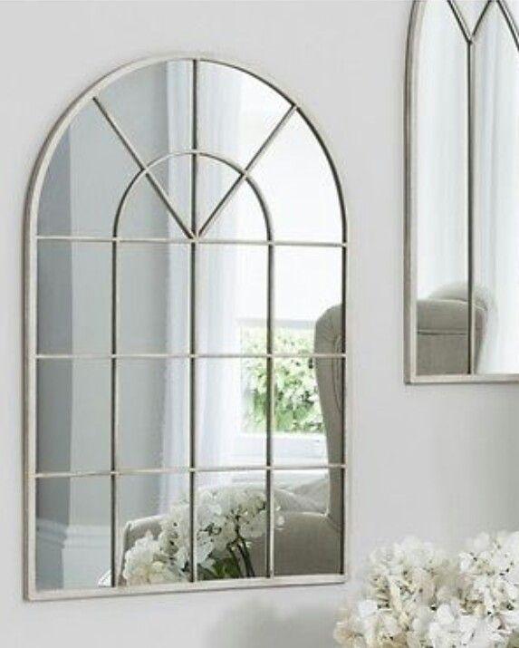 White Iron Frame Mirror Arched Window Mirror Window Mirror Mirror Dunelm