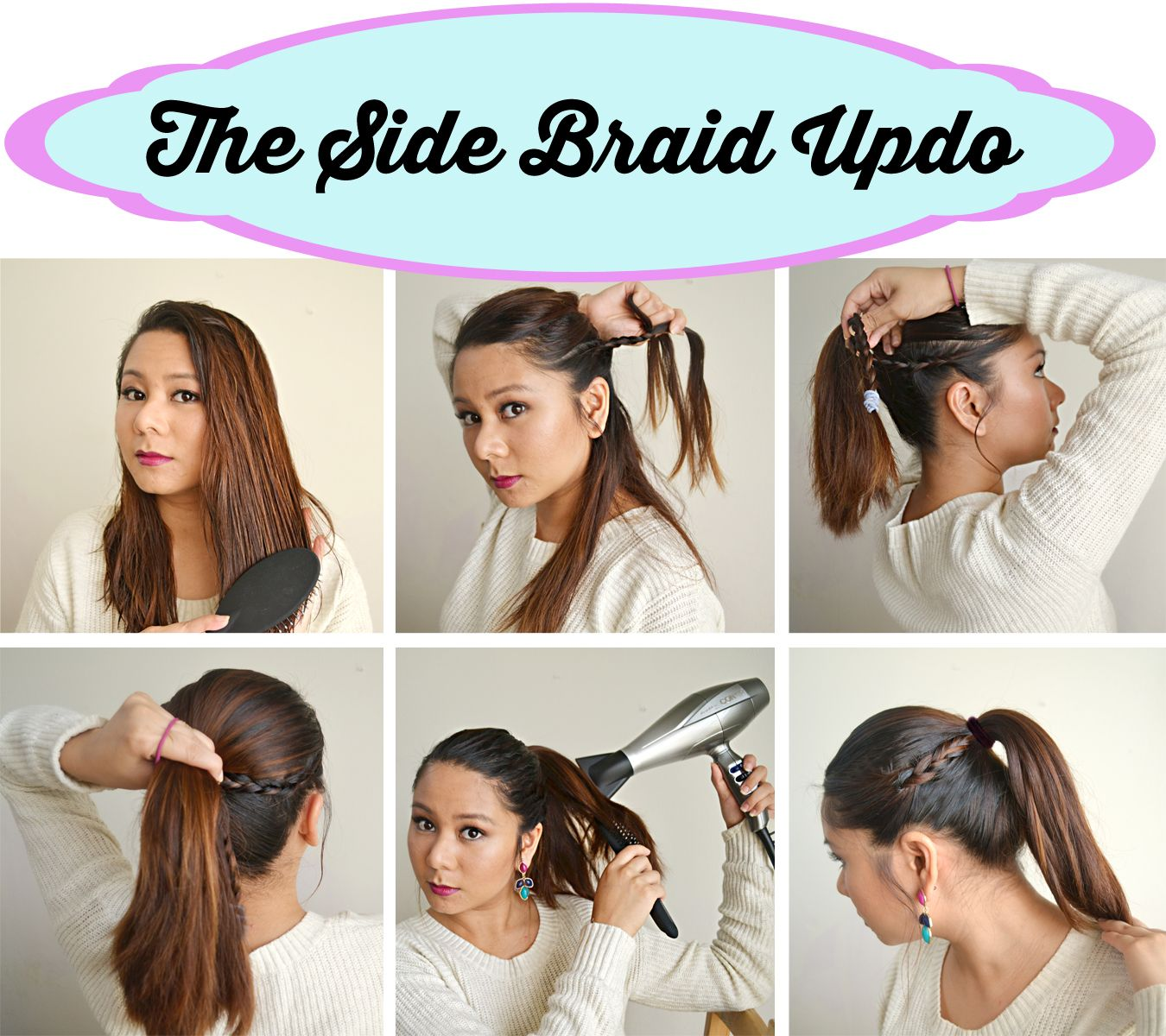 Denise says the side braid updo is perfect for a night out the