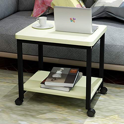 Peachy Cleave Waves End Table 2 Tier Side Table With Storage Shelf Uwap Interior Chair Design Uwaporg