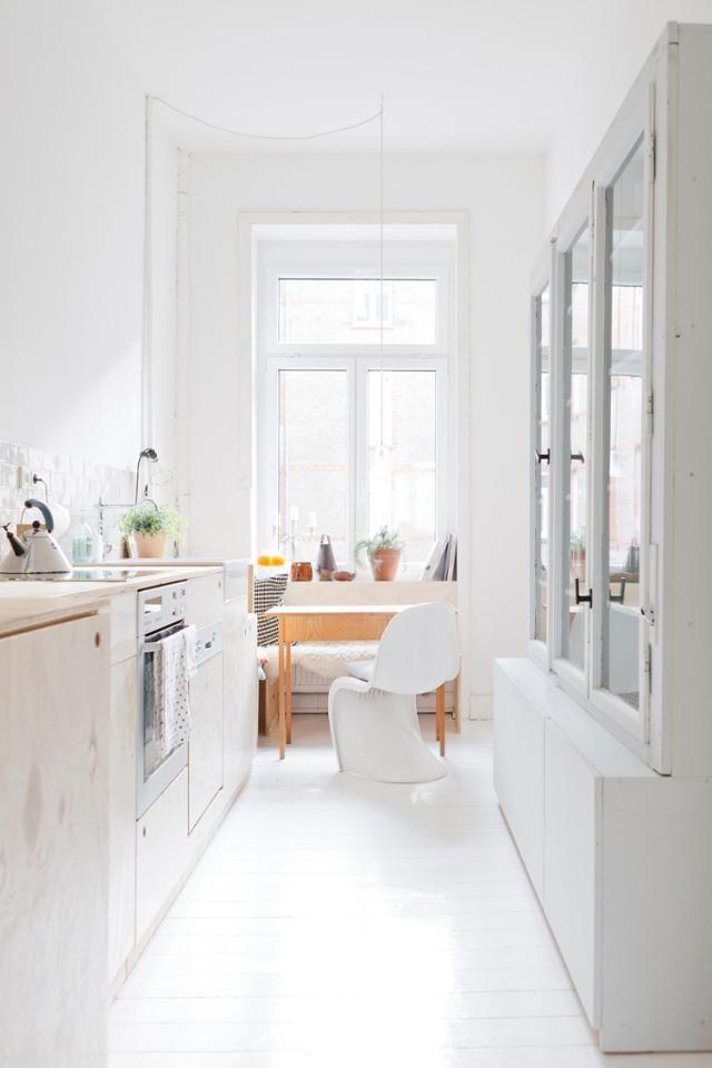 Schmale Küchenschränke schmale küche in einem altbau küche altbau schmal schmale
