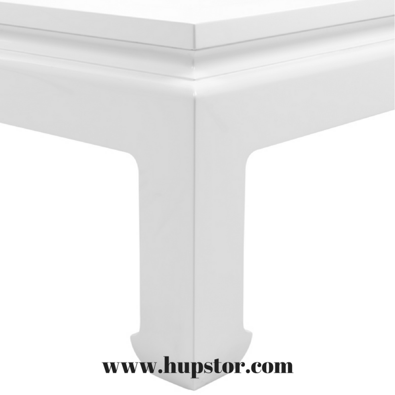 table basse opium laque blanche