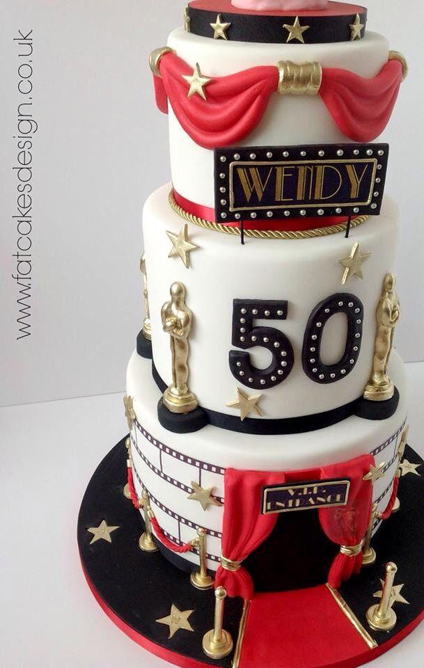 Groovy Academy Awards Cake Hollywood Birthday Parties Funny Birthday Cards Online Alyptdamsfinfo
