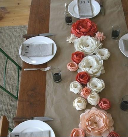 Table Setting Party Ideas Pinterest Paper Flower Centerpieces