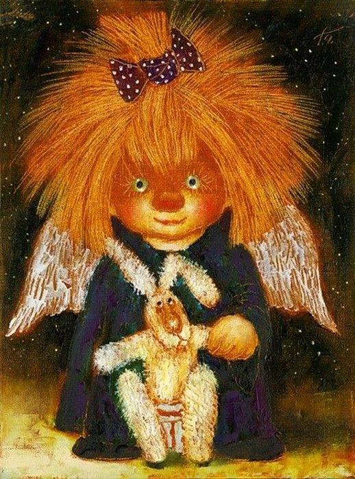 Смешные ангелы картинки, анимации надежда здравствуй