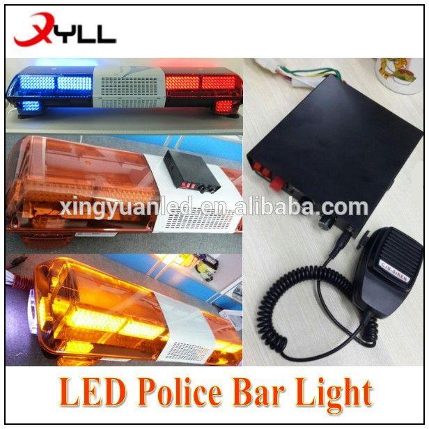 Amber Led Strobe Traffic Emergency Light Bar Flash Police Lightbars With Siren Speaker For Sale Led Strobe Bar Lighting Emergency Lighting
