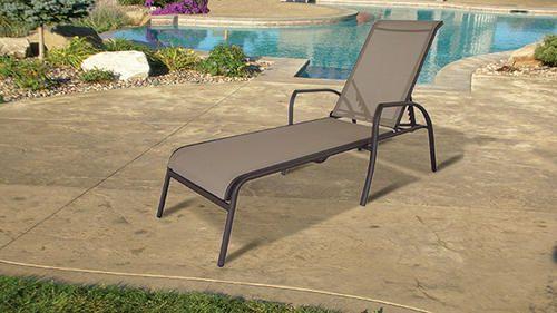 Sling Chaise Lounge Chair Tan At Menards 80 Backyard Deck