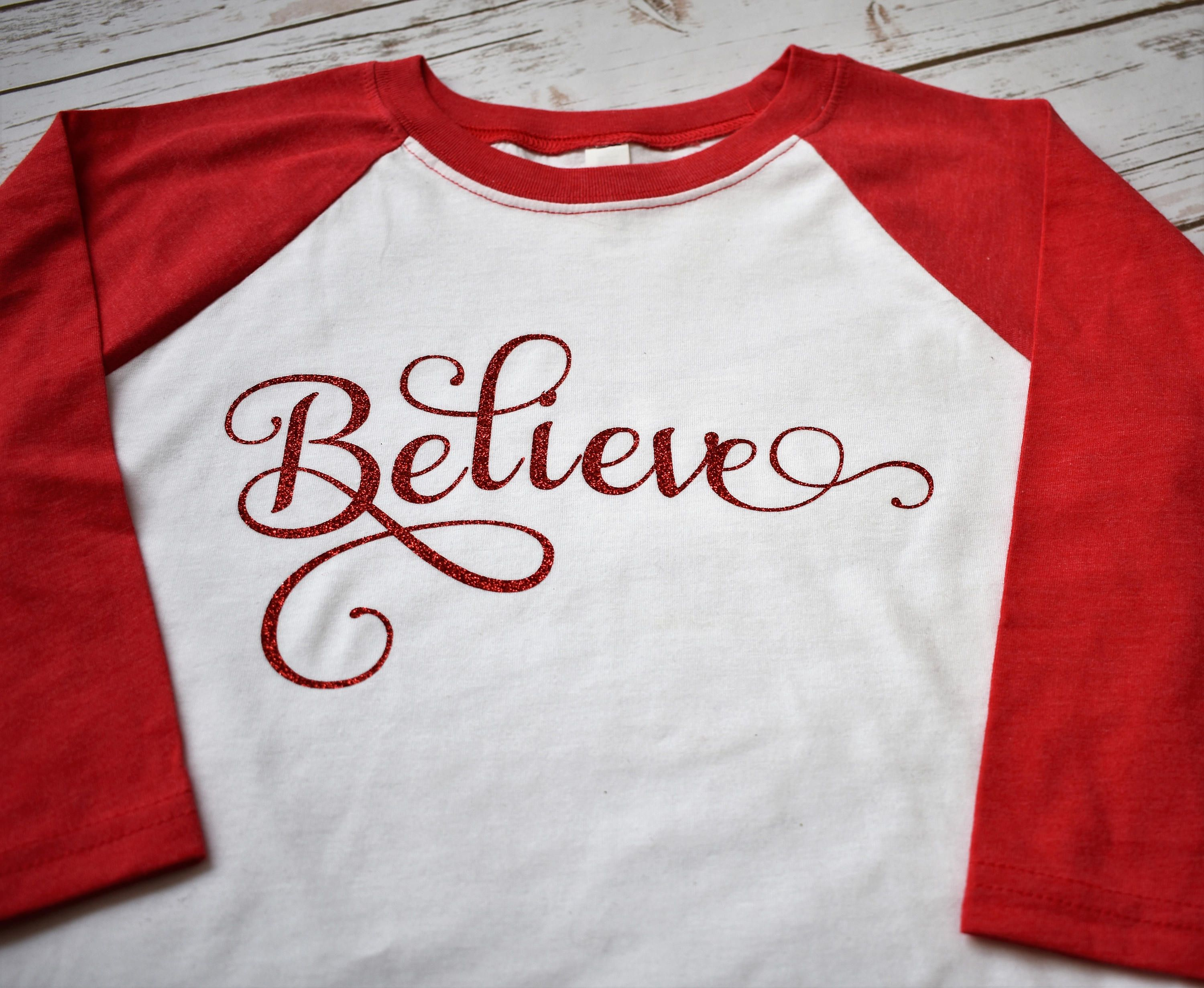 womans christmas shirts believe christmas shirts christmas raglan ladies christmas shirt believe