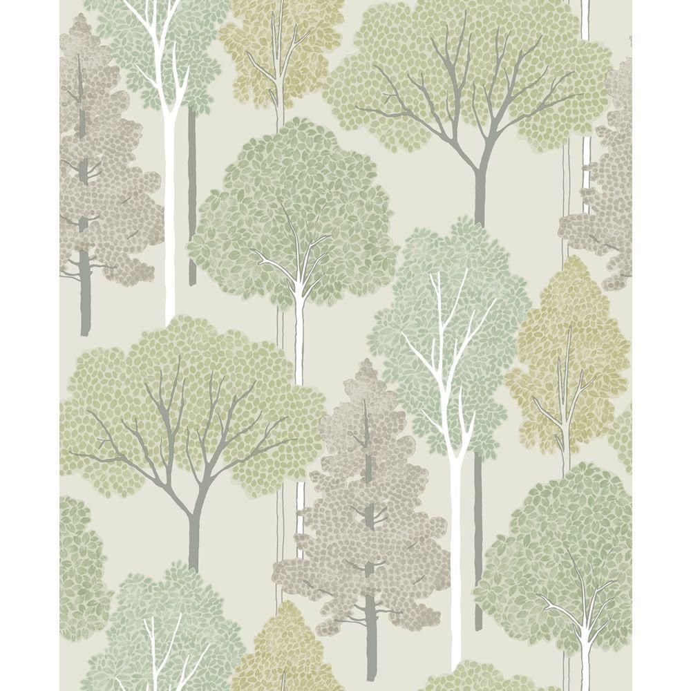 Arthouse Ellwood Green Wallpaper Glitter wallpaper, Tree