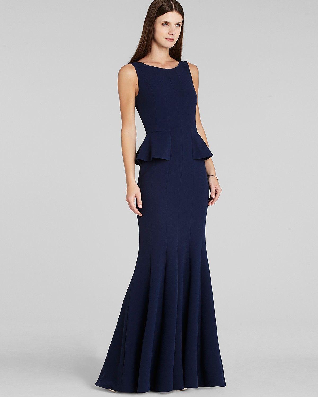 Bcbgmaxazria Gown Francesca Peplum Women Dresses Bloomingdale S Gowns Dresses Fashion [ 1500 x 1200 Pixel ]