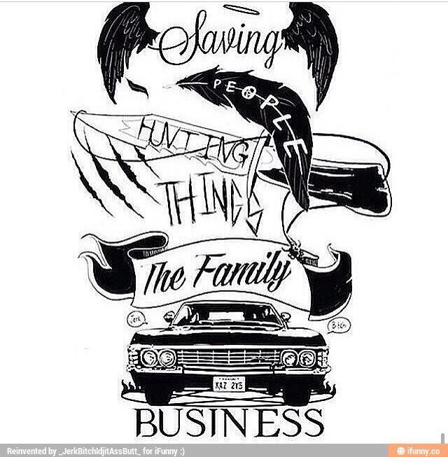 I love this!! | Supernatural tattoo, Supernatural drawings ...