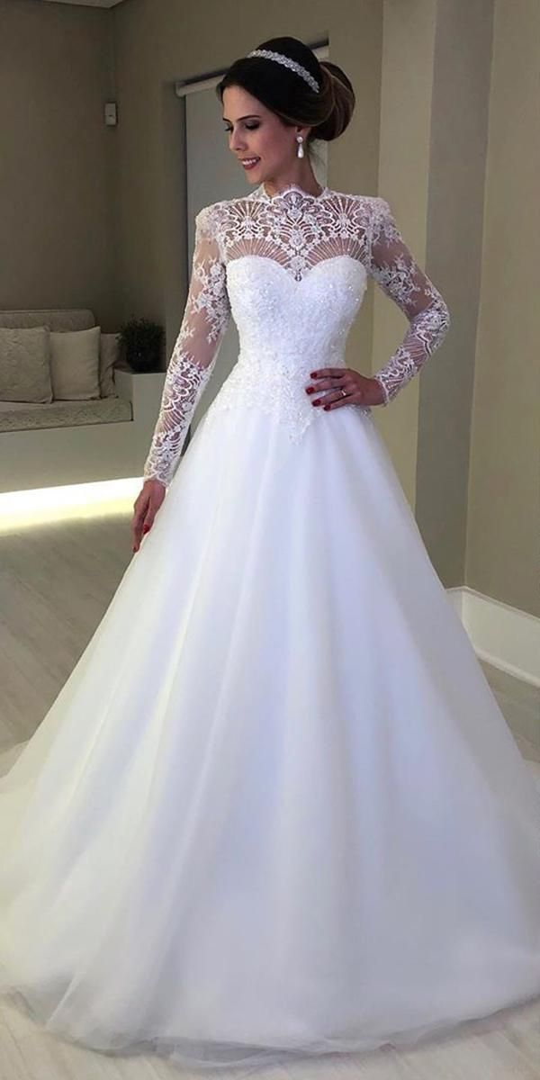 21 Illusion Long Sleeve Wedding Dresses You'll Like | Wedding Dresses Guide – Long Sleeve Wedding Dresses