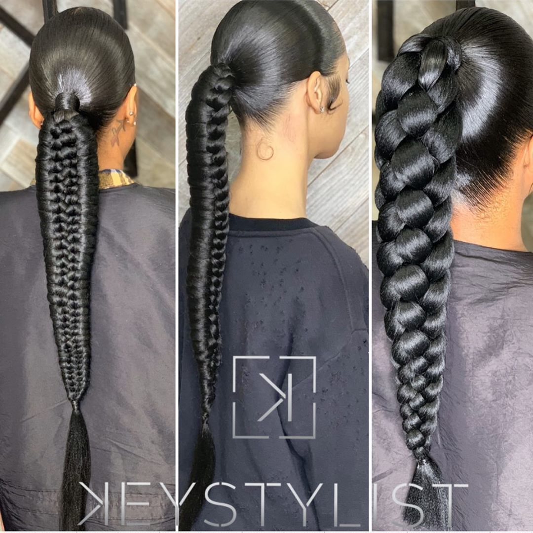Kesha L On Instagram Which One Would You Wear To Nyfw Picture 1 2 Or 3 Hair Ponytail Styles Kesha Hair Braided Hairstyles