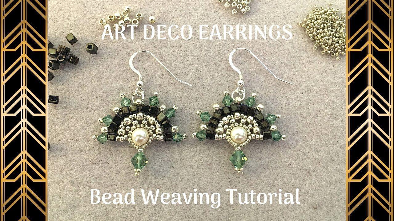 Art Deco Earrings Beading Tutorial Diy Beaded Earrings Youtube