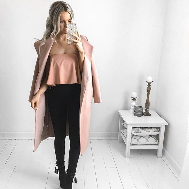 Blush  @littlelace  Details: Abby Coat Blush Thelma Top Willow Pants