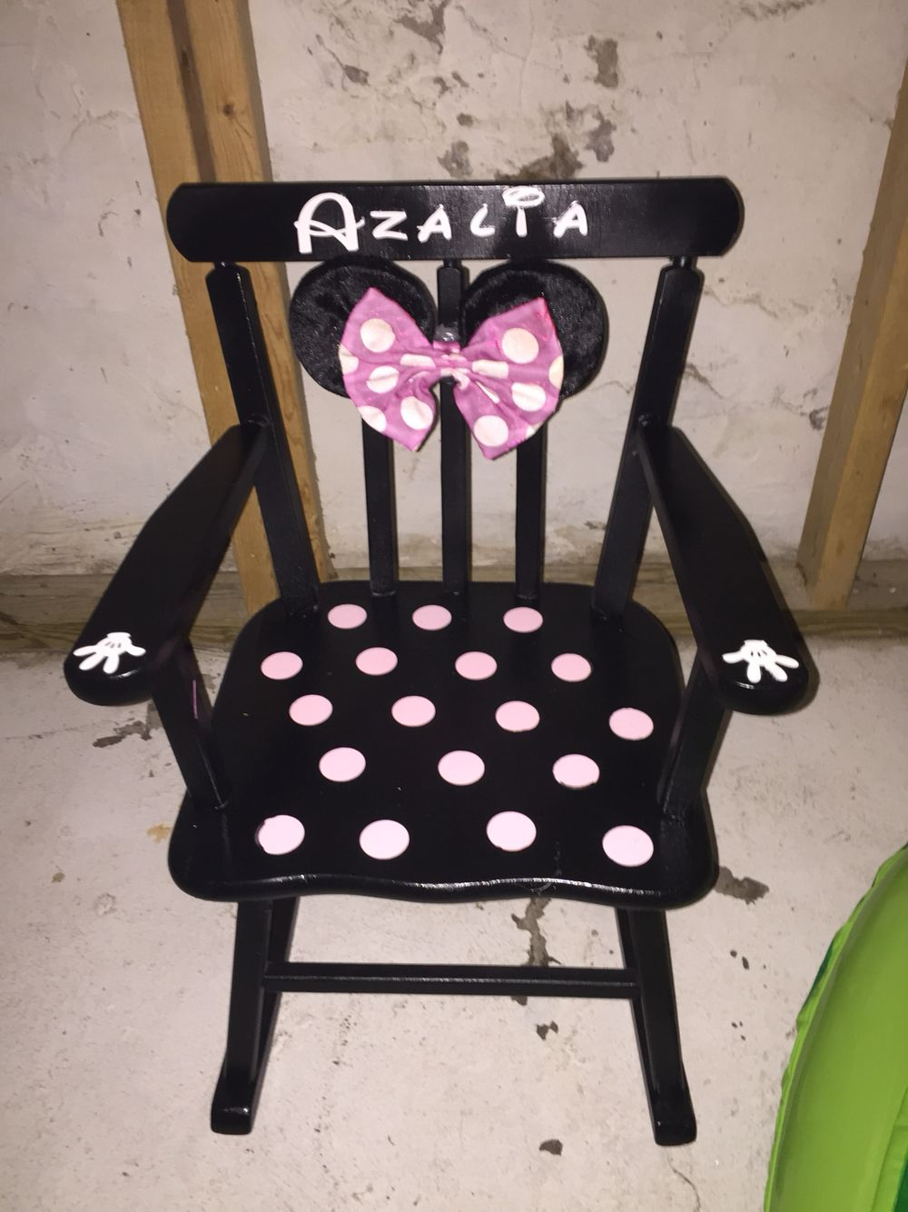 minnie mouse recliner chair small apartment size table and chairs rocking diy in 2019