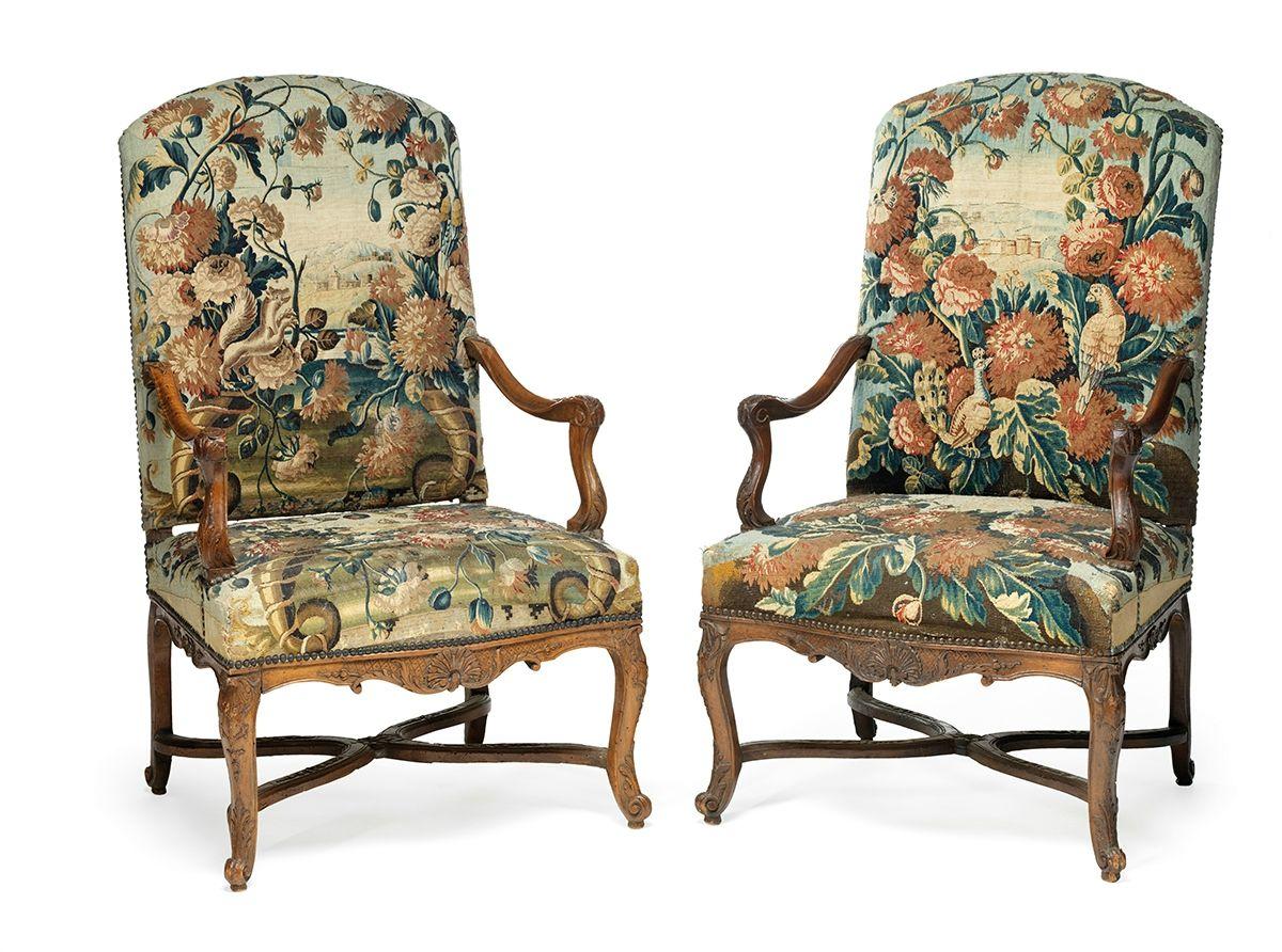 mobilier de salon comprenant quatre fauteuils et un canap france poque louis xiv vers 1710. Black Bedroom Furniture Sets. Home Design Ideas